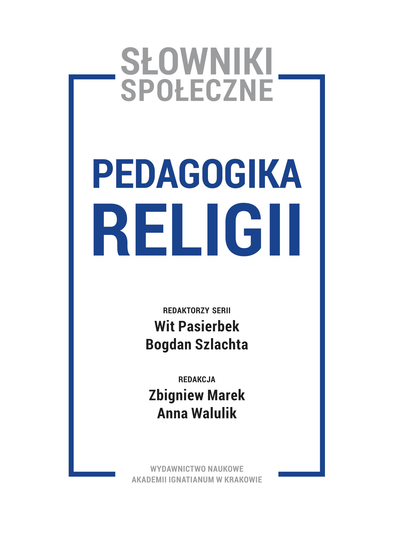 Tom I: Pedagogika religii