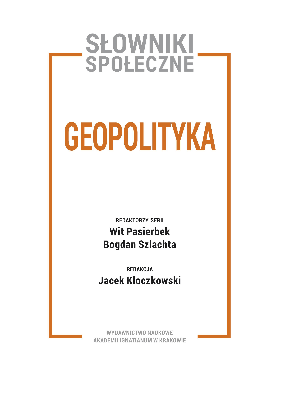 Tom IV: Geopolityka